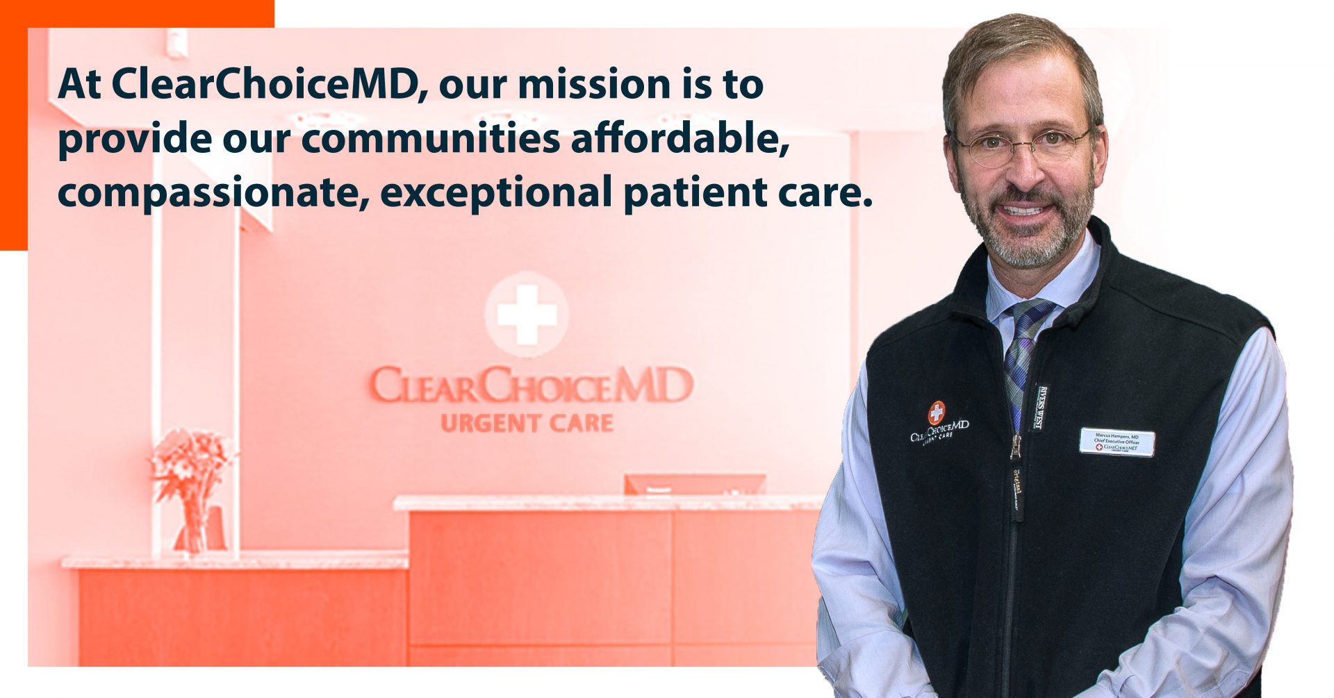 ClearChoiceMD Urgent Care CEO Dr. Marcus Hampers